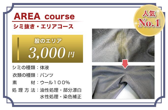 シミ抜き・エリアコース 人気No.1